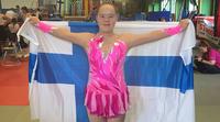 Saga Hänniselle pronssia down-urheilijoiden rytmisen voimistelun MM-kilpailuista.