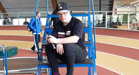 Voimanpesä Oliver Patama hakee mitaleja Tampereen down-urheilijoiden EM-kisoista.