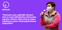 """Aija Saari: """"Enitenliikuntapalveluista hyötyvien liikunnastaleikkaaminenon kunnilta hölmöläistentouhua""""."""