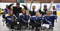Suomalaisruotsalainen yhteistyö toimi kelkkajääkiekon naisten World Cup -turnauksessa Tšekissä.
