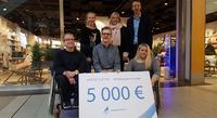 JYSKin kampanja keräsi hyvän potin nuorten paralympiaryhmälle.