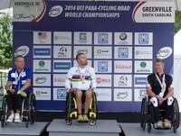 Käsipyöräilijä Polvelle toinen mitali MM-kilpailuista – hopeaa maantieajosta.