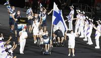Paralympialaiset avattiin näyttävästi Tokion illassa.