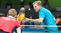 Esa Miettinen viides pöytätenniksen EM-kilpailuissa Slovakiassa.