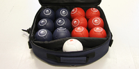 Bocciapalloja allennettuun hintaan ja muita bocciatuotteita myynnissä.