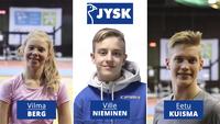 JYSK-stipendit kolmelle nuorelle paraurheilijalle.