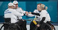 Pyörätuolicurlingjoukkueelle ensimmäinen voitto Pyeongchangissa.