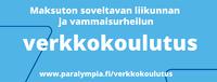 Soveltavan liikunnan ja vammaisurheilun verkkokoulutus vapaasti hyödynnettävissä.