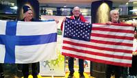 Uotinen ja Leväinen mitaleilla elinsiirron saaneiden talvilajien MM-kisojen avauspäivänä.