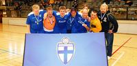 Itä-Hakkilan Kilvan futsal-turnauksessa ennätysosanotto.