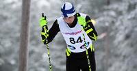 Inkki Inola 10. paralympialaisten maastohiihdon avausmatkalla.