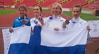 Naisten viestihopea kruunasi suomalaisten menestyspäivän elinsiirron saaneiden MM-kilpailuissa Newcastlessa.