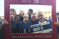 HJK:n Respect-palkinto Special Olympics -jalkapalloilijoille.