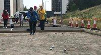 Esko Sohlo avasi Suomen mitalitilin elinsiirron saaneiden MM-kilpailuissa Newcastlessa.